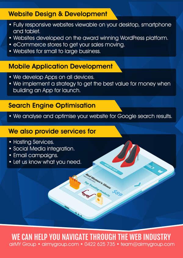 airmy group website design development